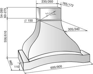 Вытяжка каминная Elikor Аркада 60П-650-П3Г бежевый