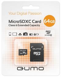Карта памяти Qumo QM64GMICSDXC6 microSDXC 64 Гб