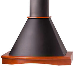 Вытяжка каминная Pyramida R 90 BLACK/U черный