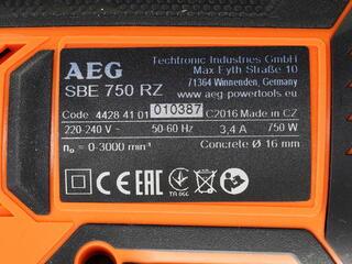 Дрель AEG SBE 750 RZ