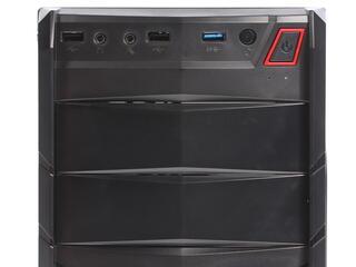 Корпус AeroCool V2X Red Edition черный