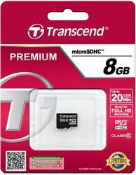 Карта памяти Transcend TS8GUSDC10 microSDHC 8 Гб
