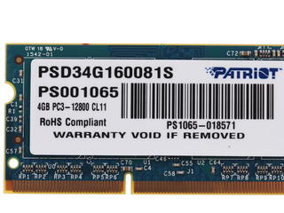 Оперативная память SODIMM Patriot Signature [PSD34G160081S] 4 ГБ