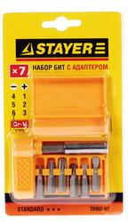 Набор бит STAYER 26082-H7