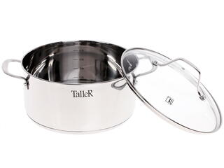 Кастрюля Taller TR-1084 серебристый