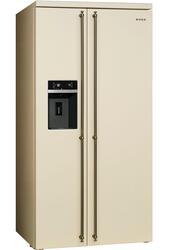 Холодильник Smeg SBS8004PO бежевый