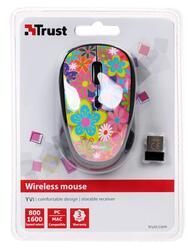 Мышь беспроводная Trust Yvi Wireless Flower power