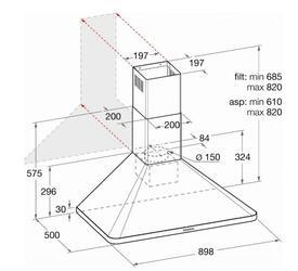 Вытяжка каминная Hotpoint-Ariston HRP 9.8 CM (OW)/HA бежевый