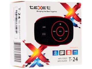 MP3 плеер teXet T-24 красный