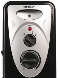 Масляный радиатор Marta MT-2420 черный
