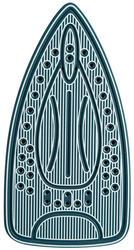 Утюг DELTA DL-416 голубой