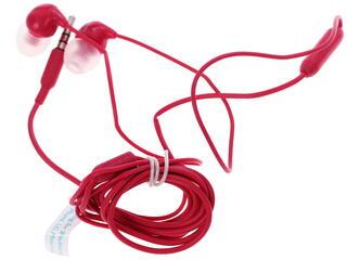 Гарнитура проводная Philips SHE3595PK красный