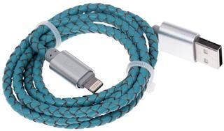 Кабель DEXP U8TSI100SkM USB - Lightning 8-pin бирюзовый