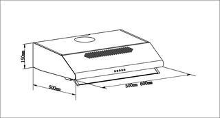 Вытяжка подвесная LEX SIMPLE 500 белый