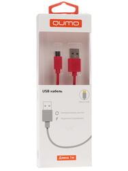 Кабель Qumo 20983 USB 2.0 A - micro USB B красный