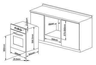 Электрический духовой шкаф Pyramida F 60 TMR