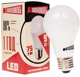 Лампа светодиодная Экономовъ Груша А60 9Вт