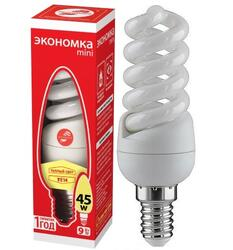 Лампа люминесцентная Экономка T2 SPC 9W E1427
