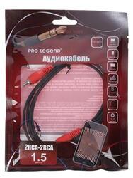 Кабель соединительный Pro Legend RCA x2 - RCA x2