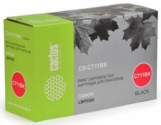 Картридж лазерный Cactus C711BK