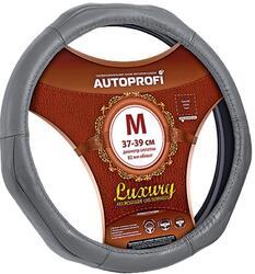 Оплетка на руль AUTOPROFI LUXURY AP-1020 серый
