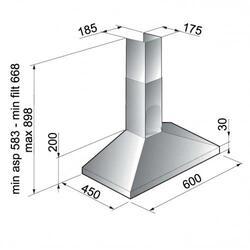 Вытяжка каминная Weissgauff ALPHA 60 PB IX серебристый