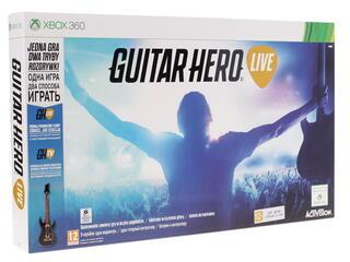 Гитара беспроводная Guitar Hero + Игра для Xbox 360 Guitar Hero Live
