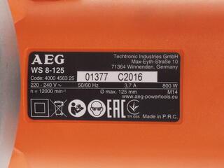 Углошлифовальная машина AEG WS8-125