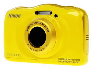 Компактная камера Nikon Coolpix S33 желтый