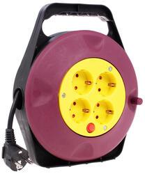 Удлинитель SVEN Trident 3G-10m красный, желтый, черный