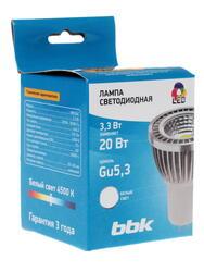 Лампа светодиодная BBK MB334C Gu5.3