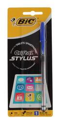 Стилус-ручка BiC Cristal серебристый, черный