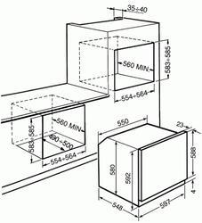 Электрический духовой шкаф Smeg SF855PX
