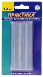 Стержни клеевые ПРАКТИКА 641-572 белый, прозрачный