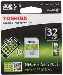 Карта памяти Toshiba NFC SDHC 32 Гб