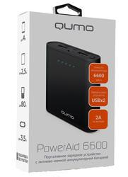 Портативный аккумулятор Qumo PowerAid 6600 черный
