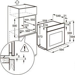 Газовый духовой шкаф Zanussi ZOG511217C