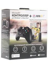Геймпад Microsoft Xbox ONE for Windows + FIFA17 черный