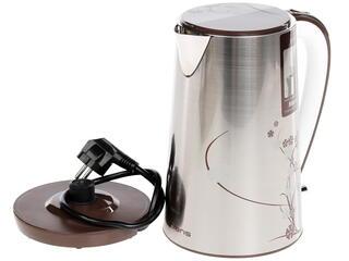 Электрочайник Polaris PWK 1503 CA коричневый, серебристый