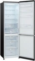Холодильник с морозильником LG GA-B489SBQZ черный