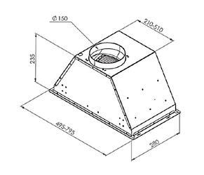 Вытяжка встраиваемая Zigmund & Shtain K 003.71 W белый