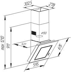Вытяжка каминная Pyramida BT 60 BLACK MU/U черный