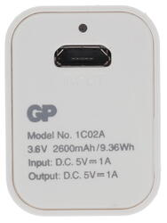 Портативный аккумулятор GP PowerBank GP1C02AWE белый