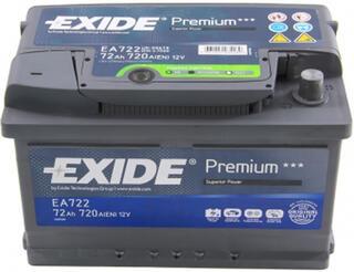 Автомобильный аккумулятор EXIDE PREMIUM EA722