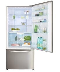 Холодильник с морозильником Panasonic NR-BW465VSRU серебристый