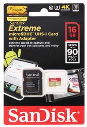 Карта памяти SanDisk EXTREME microSDHC 16 Гб