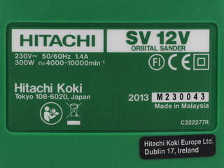 Виброшлифмашина Hitachi SV12V