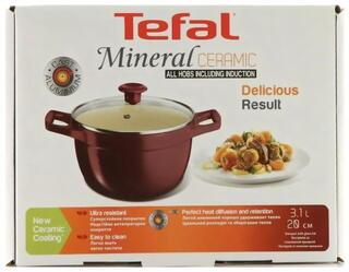Кастрюля Tefal C7494454 Mineral Ceramic красный