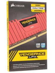 Оперативная память Corsair Vengeance LPX [CMK16GX4M2A2400C16R] 16 ГБ
