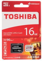 Карта памяти Toshiba EXCERIA M302-EA microSDHC 16 Гб